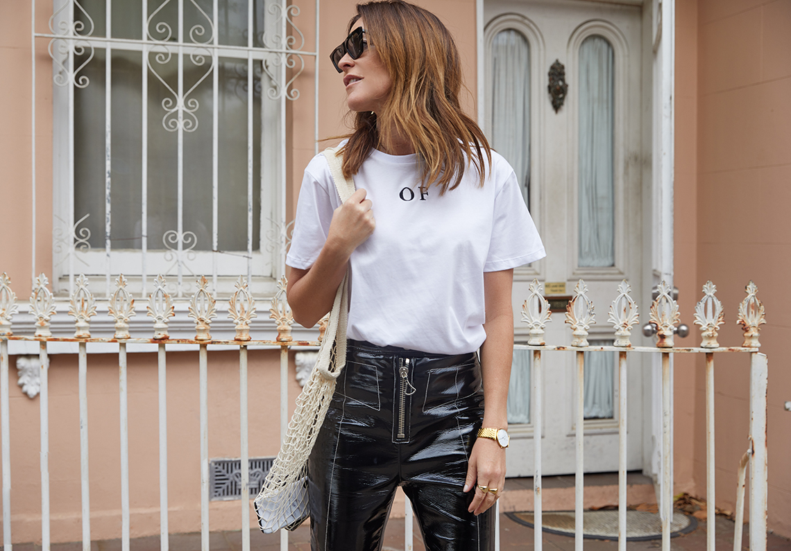 White, T-shirt, Casual, Outfit, Of, By ,Amanda, Shadforth, Oracle, Fox , Ellery, Louis, Vuitton
