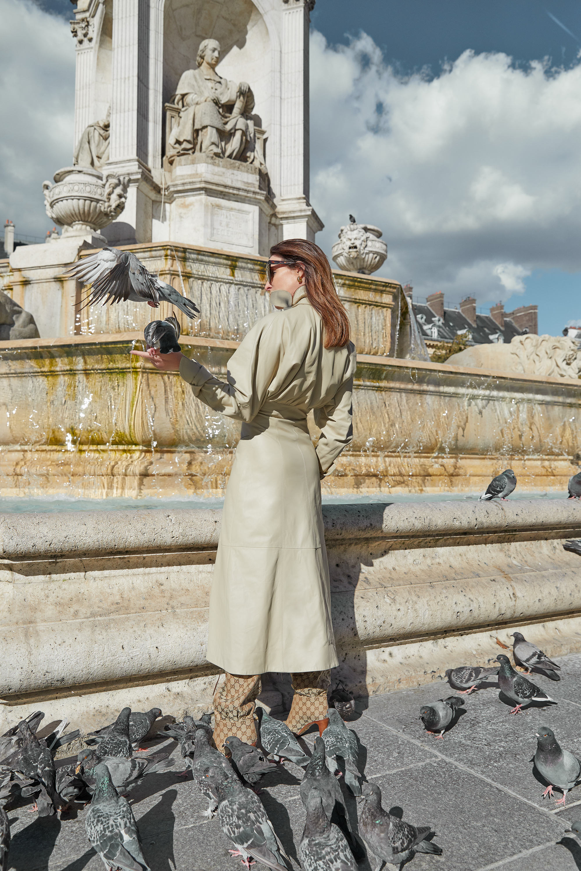 Paris, Travel, Editors, Outfit, Zimmerman Dress, Gucci Boots, Oracle, Fox