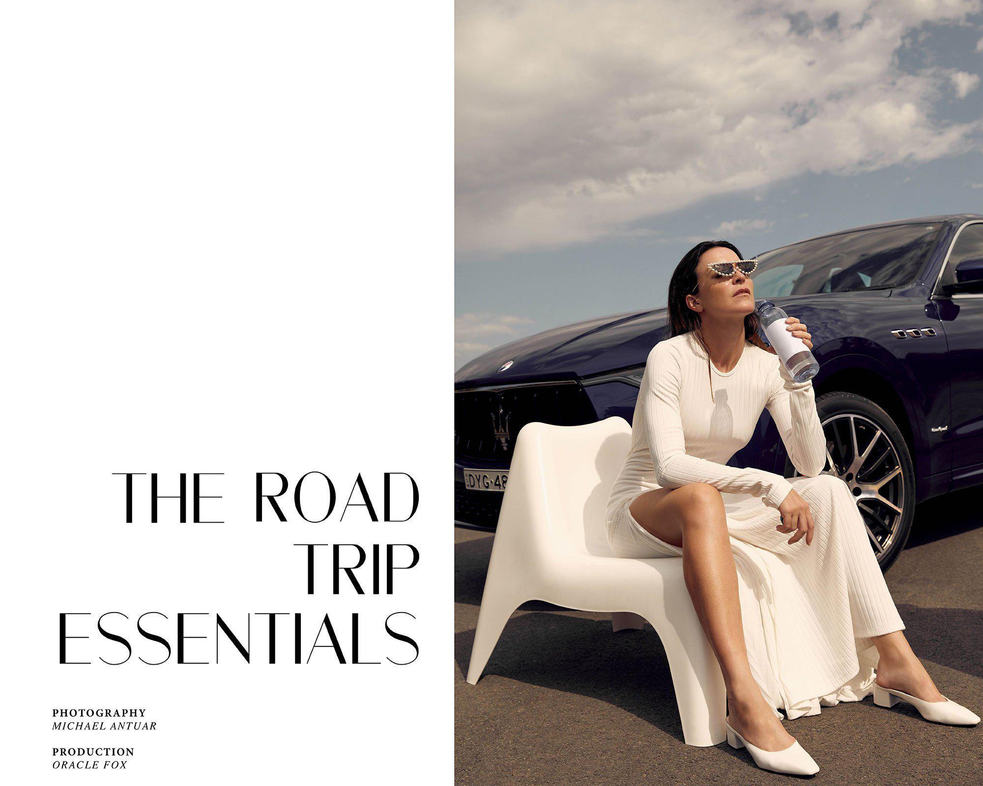 Road, Trip, Essentials, Maserati, Levante, Oracle, Fox, White, Dress