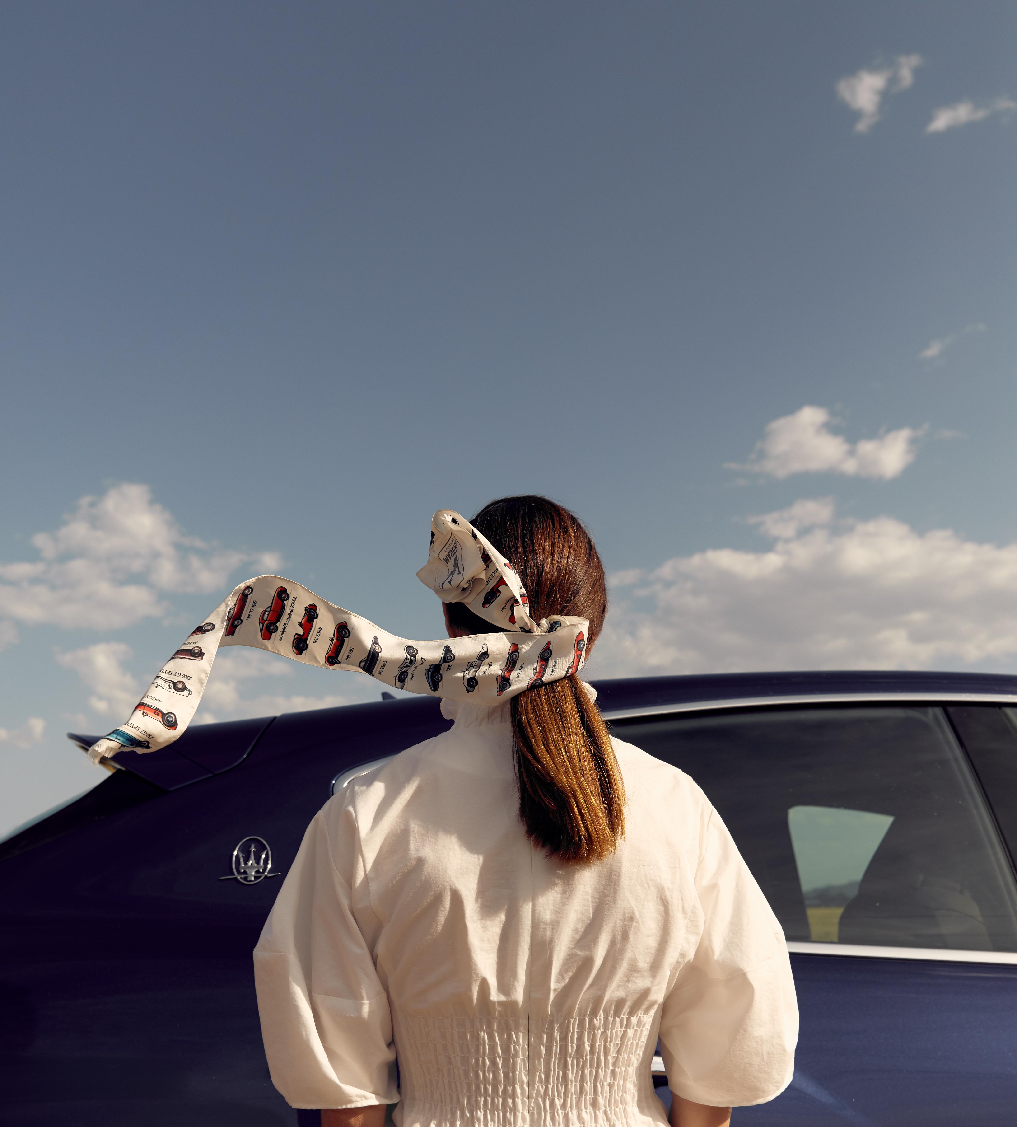 Road Trip Essentials, Maserati, Levante, Oracle, Fox, Michael Lo Sordo White Dress