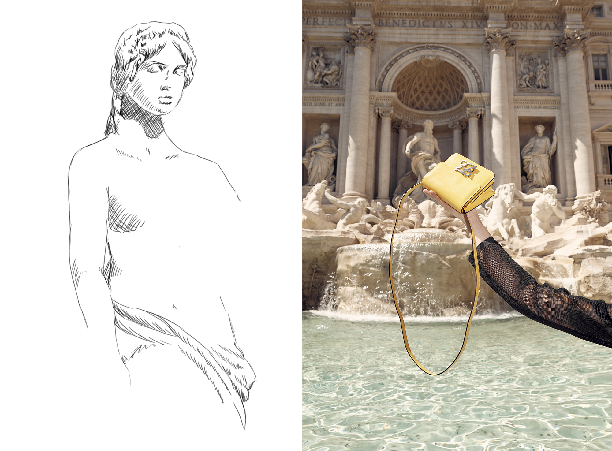 Karligraphy, Bag, Rome, Trevi Fountain, Oracle Fox, Fendi